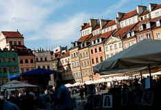 Old Town in Warsaw Stock Image