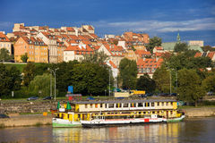 Old Town in Warsaw. Old Town by the river Vistula picturesque scenery in the city of Warsaw, Poland stock photo