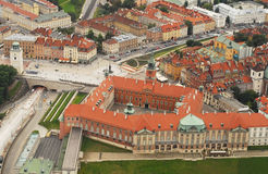 Old Town in Warsaw aerial Stock Photo