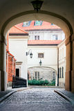 Old Town in Warsaw City stock photography