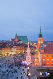 Old Town of Warsaw at Dusk Stock Image