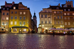 Old Town of Warsaw in the Evening Royalty Free Stock Photos