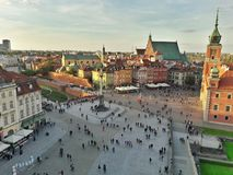 Old town Warsaw stock photo