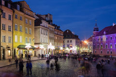 Old Town in Warsaw at Night Royalty Free Stock Image