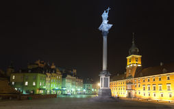 Old Town in Warsaw at night, Poland Royalty Free Stock Photos