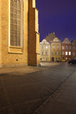 Old Town in Warsaw by Night Stock Photo