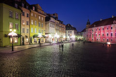 Old Town of Warsaw At Night Stock Photography