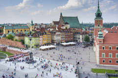 Old Town in Warsaw, Poland - panoramic view royalty free stock photography