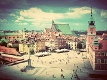Old town in Warsaw, Poland. Vintage Royalty Free Stock Image