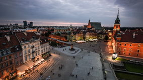 Old Town in Warsaw stock footage