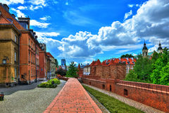 Old Town in Warsaw, the view of the Barbican Stock Photos