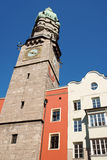 The Old Town watch tower of Innsbruck Royalty Free Stock Photos