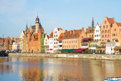Old town waterfront, Gdansk. Old town waterfront  in  Gdansk ,  Poland Stock Photography