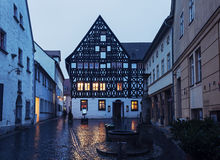 Old town of Weimar at sunrise Royalty Free Stock Photo