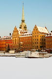 Old Town in winter. Royalty Free Stock Photos
