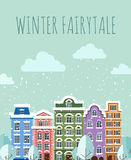Old Town in winter Royalty Free Stock Image
