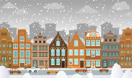 Old town in winter Royalty Free Stock Images