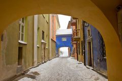 Old town in winter, Warsaw, Poland Royalty Free Stock Photos