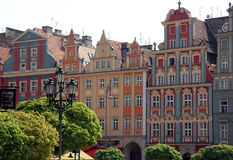 OLD TOWN IN WROCLAW. HISTORIC BUILDINGS IN THE CENTER OF WROCLAW Royalty Free Stock Images