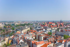 old town of Wroclaw from above Stock Image