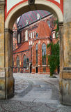 Old town of Wroclaw. Church of st Elisabeth, old town of Wroclaw, Poland Stock Images