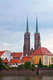 Old town of Wroclaw (island Tumski), Poland Stock Photo