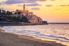 Old town of Yafo, Tel Aviv, Israel, on sunset Royalty Free Stock Image