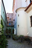 Old town yard. A little yard in the oldtown of Vilnius, Lithuania Stock Photography