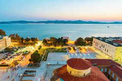 Old town Zadar in the evening Royalty Free Stock Photo