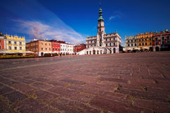 Old town in Zamosc, Poland. Stock Photo