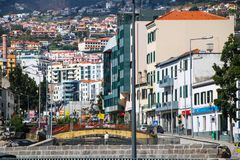 "Zona Velha - Old City of Funchal, Madeira. The old town ""Zona Velha"" of Funchal on the Island Madeira, Portugal Royalty Free Stock Image"