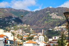"Zona Velha - Old City of Funchal, Madeira. The old town ""Zona Velha"" of Funchal on the Island Madeira, Portugal Stock Photography"
