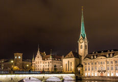 Old town of Zurich at night - Switzerland Royalty Free Stock Photo
