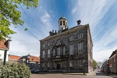 Old townhall in the centre of Enkhuizen royalty free stock photo