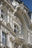 Old Townhouse with balcony. Building in art nouveau in Vienna Royalty Free Stock Image