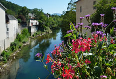 Summer view of the old French town Royalty Free Stock Photo