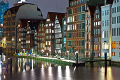 Old townhouses at the canal Stock Image