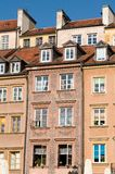 Old townhouses in Warsaw - mural paiting Stock Photos