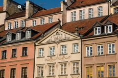 Old townhouses in Warsaw Royalty Free Stock Photography