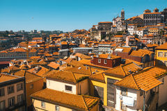 Old towns rooftops of Porto, Portugal.  Architecture. Royalty Free Stock Images