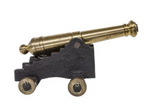 Old Toy Cannon. Isolated on white Stock Images