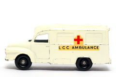 Old toy car Ambulance Royalty Free Stock Images