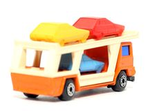 Old toy car Car Transporter #2 Royalty Free Stock Photos