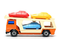 Old Toy Car Car Transporter 3 Stock Image