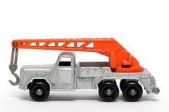 Old toy car crane truck Magirus Deutz Royalty Free Stock Photos
