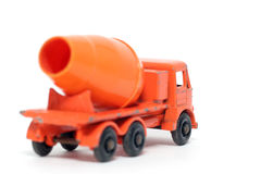 Old toy car Foden Cement Mixer. Picture of a old small Foden Cement Mixer. British metal toy from my brothers toy collection.Made in the 1960's Stock Photography