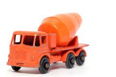 Old toy car Foden Cement Mixer #2. Picture of a old small Foden Cement Mixer. British metal toy from my brothers toy collection.Made in the 1960's Royalty Free Stock Photos
