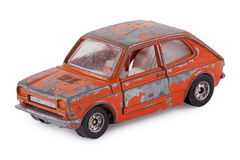 Old toy car. Old rusty metal car toy Royalty Free Stock Images