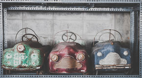 Old toy cars vintage background royalty free stock image