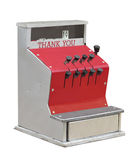Old toy cash register isolated. Royalty Free Stock Photo